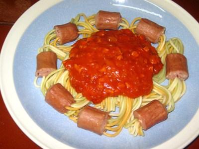 espaguetis frankfurt