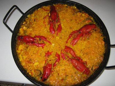 paella cangrejos