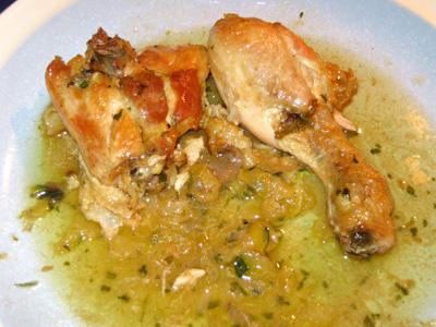 pollo calabacin